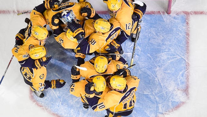 The Predators will open their second-round series against the Blues in St. Louis.