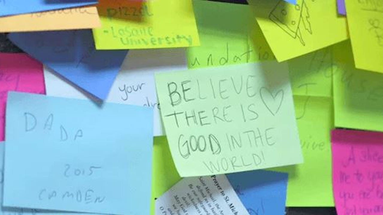 A customer walked into this pizza shop and changed Philadelphia with $1 and a single Post-it note.