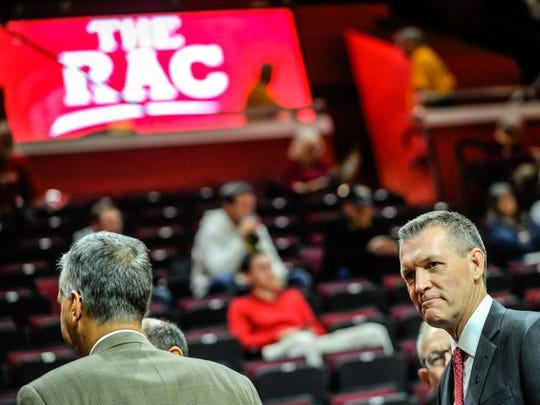 Pat Hobbs working the crowd at the RAC.