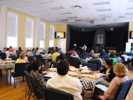 Dr. Murphy addresses community members about advance