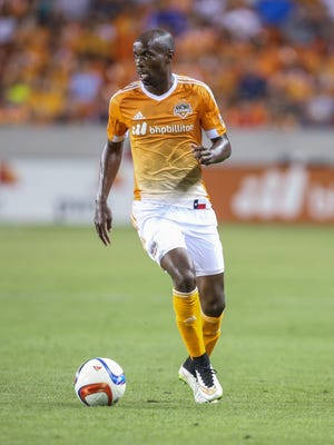 Houston Dynamo defender/midfielder DaMarcus Beasley (7) during the game against the Sporting KC at BBVA Compass Stadium.