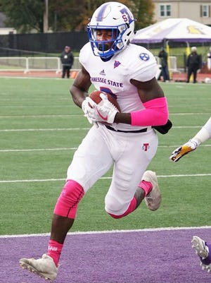 Tennessee State receiver Patrick Smith is climbing the school's list in career receptions, receiving yards and touchdown catches.