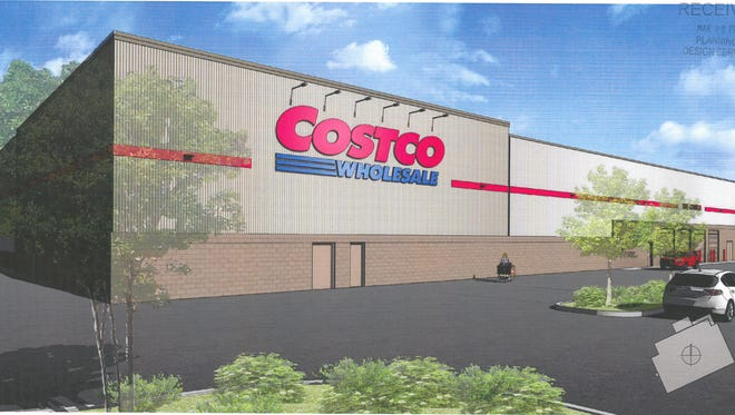A rendering of the proposed Costco that would be located off Bardstown Road at the site of the old Showcase Cinemas.
