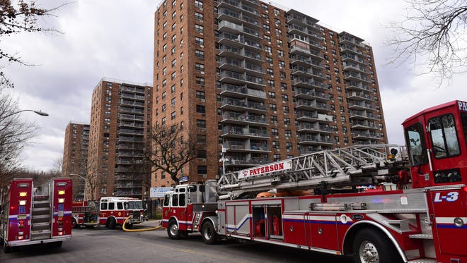 A second-alarm for extra manpower was called to battle a fire in a garbage chute in a high-rise on Presidential Boulevard, said Paterson Deputy Fire Chief Frank Calamita.