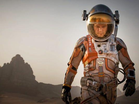"Matt Damon in ""The Martian,"" opening Oct. 2."