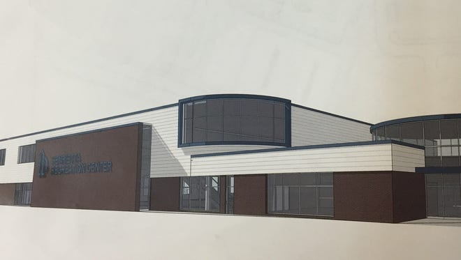 A rendering of the proposed Henrietta Recreation Center.