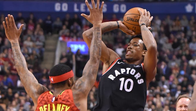 Guard DeMar DeRozan, already the Raptors' go-to scorer, has doubled his three-point attempts this season and is making a higher percentage.