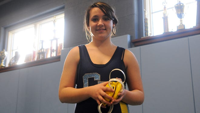 Cape Henlopen senior wrestler Brianna Woodward wrapped up her career with the Vikings with a 6-6 record on junior varsity. She was undefeated against female opponents.