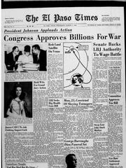 El Paso Times homepage for March, 2, 1966.