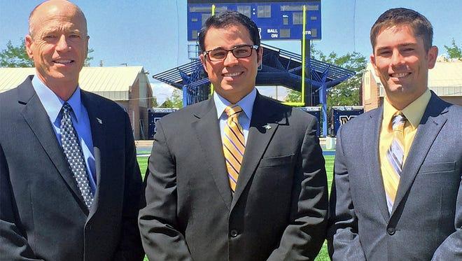 Jay Sanderson, center, with Dan Davies, left, and Jason Alvine.