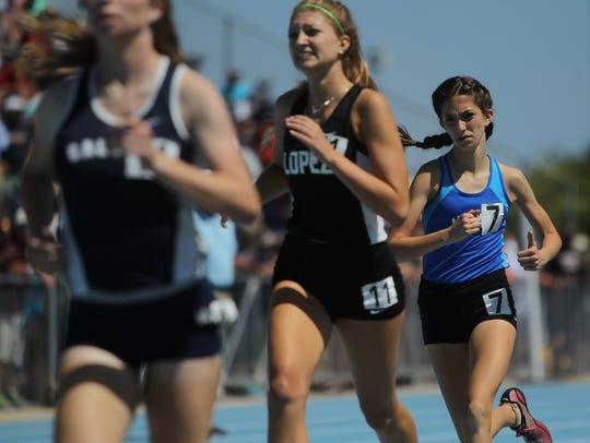 Maclay seventh-grader Ella Porcher races during the
