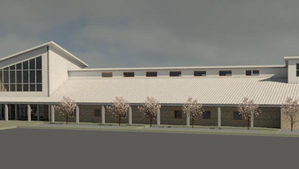This preliminary design for the Gulf Coast Marine Fisheries Hatchery and Enhancement Center was presented by Baskerville Donovan Engineering and Sam Marshall Archtiects last week.