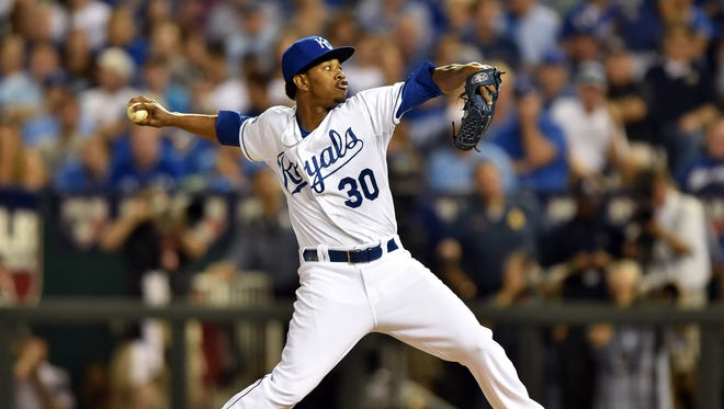 Yordano Ventura coughed up a three-run home run to Brandon Moss in relief in the sixth inning.