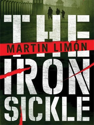 """""""The Iron Sickle"""" book cover, by Martin Limon."""