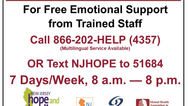 The Mental Health Association in New Jersey launches its free texting service for New Jerseyans struggling with anxiety or depression.