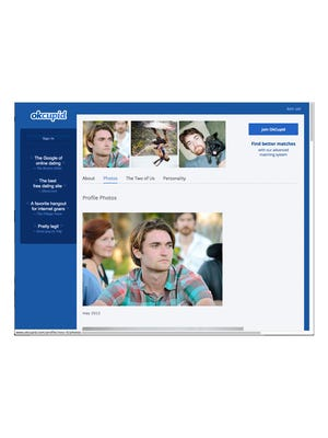 The okcupid.com photos page of Ross Ulbricht.