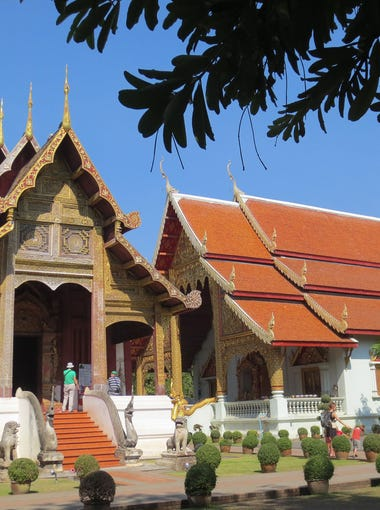 Wat Phra Singh, a 14th century Buddhist temple in Chiang Mai.