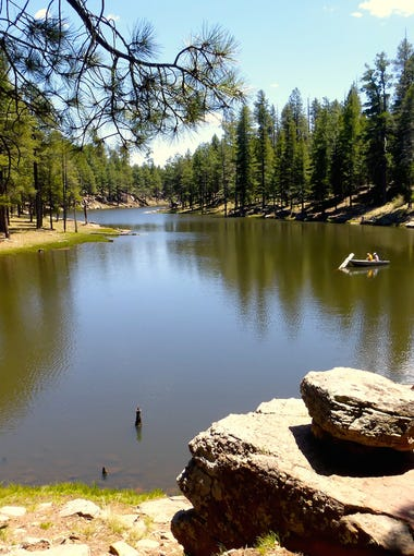Well stocked with trout, Woods Canyon Lake also offers multiple campgrounds, a picnic area and store.