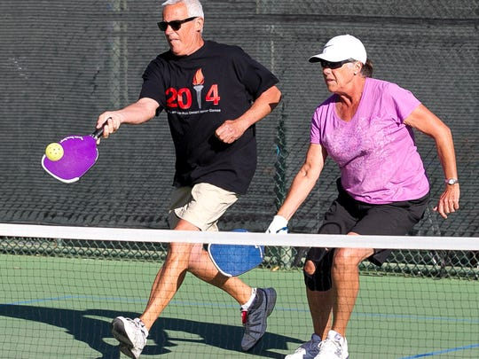 To meet the growing popularity of the sport, the city of Palm Desert converted its tennis courts at Freedom Park into pickleball courts in 2015. The city is now investing up to $403,329 in improvements to the courts, including resurfacing, improved lighting, expanded waiting and viewing area and the addition of a shade structures, drinking fountain and misting system.