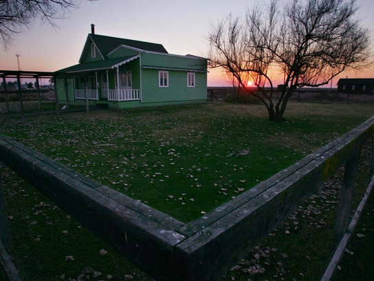 The home of Colonel Allen Allensworth is shown at Colonel