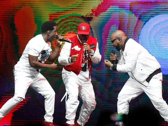 Boyz II Men perform during The Total Package Tour with