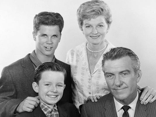 4. Cast photo publicity shot Tony Dow and Barbara Billingsley (back) and Jer.jpg