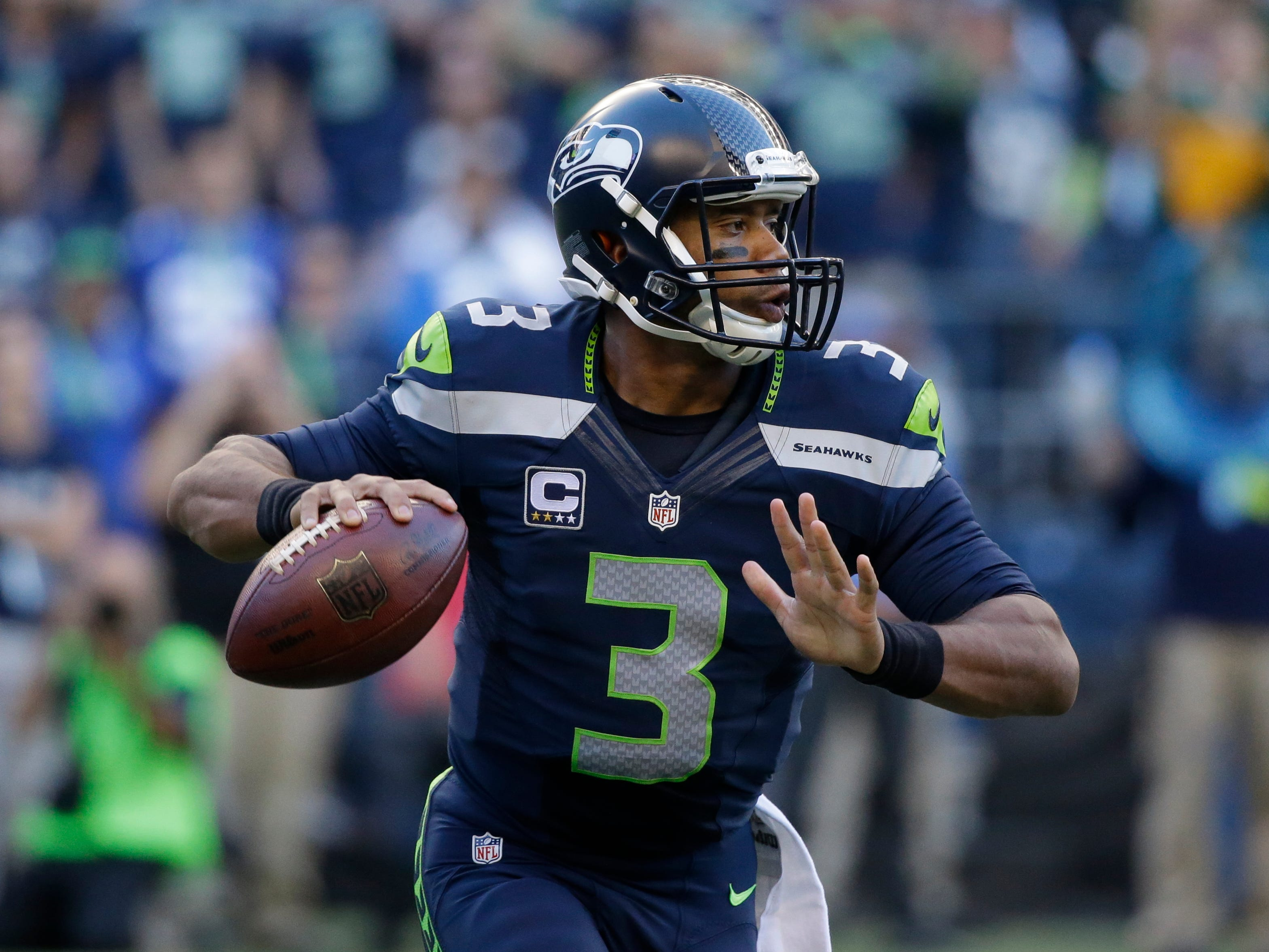 Fewer fans tuned in Thursday than in 2013 to watch Russell Wilson's Seahawks in the NFL season opener.