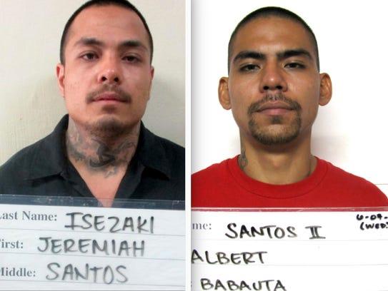 Jeremiah Santos Isezaki, left, and Albert Babauta Santos