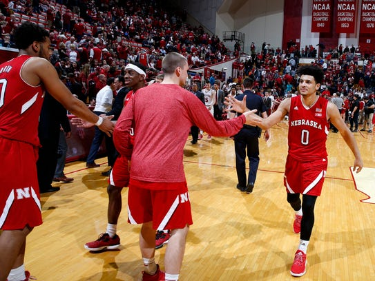 Nebraska's win at Indiana on Dec. 28 (pictured) set
