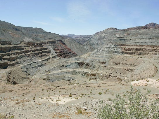 One of the massive iron ore mining pits in the Eagle