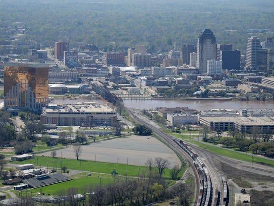 Shreveport cityscape.