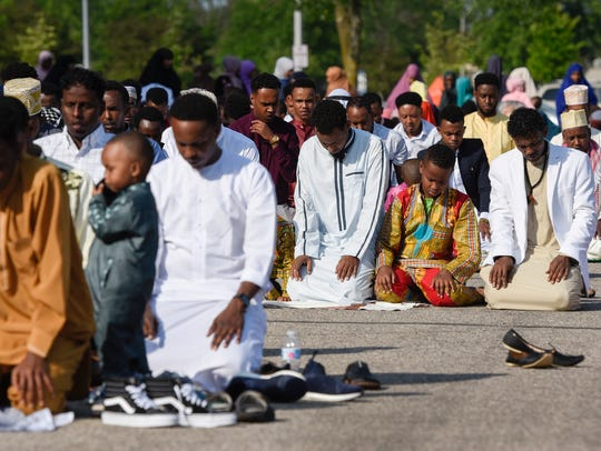 Area Muslims gathered Friday morning to celebrate Eid