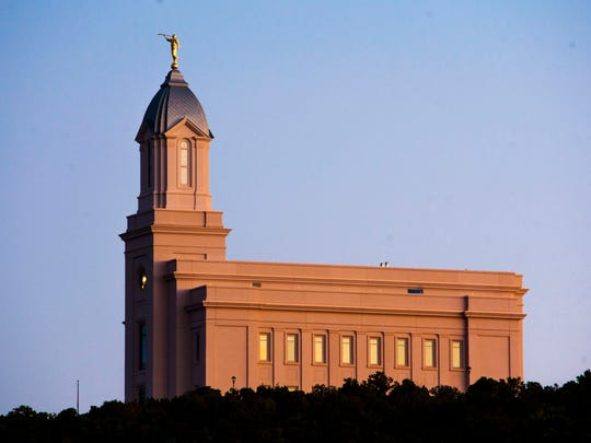 Construction continues on the new Cedar City Utah Temple, evidence of the cultural influence of The Church of Jesus Christ of Latter-day Saints in Southern Utah.