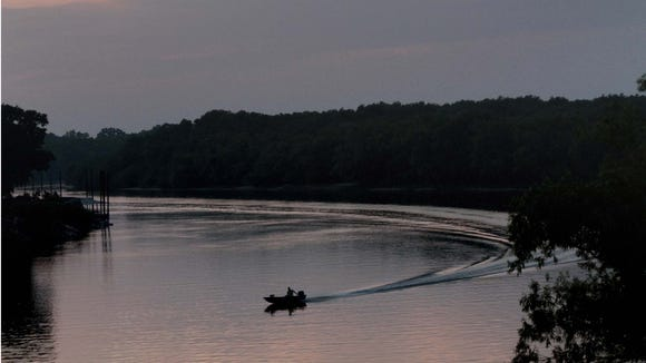 The Ouachita River is fair for fishing this time of year.