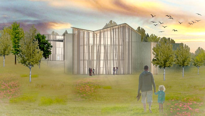 A rendering of what the proposed John Michael Kohler 'Art Preserve,' slated to go on a 38-acre parcel of land on Sheboygan's west side, could look like.