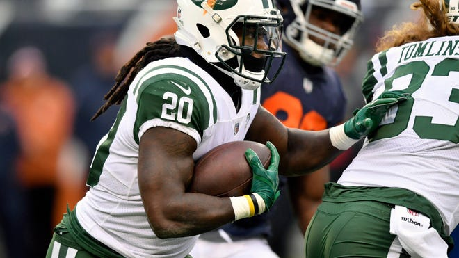 Jets running back Isaiah Crowell has struggled since his record-breaking game.