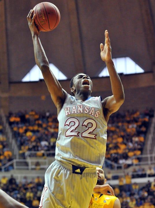 USP NCAA Basketball_ Kansas at West Virginia_001