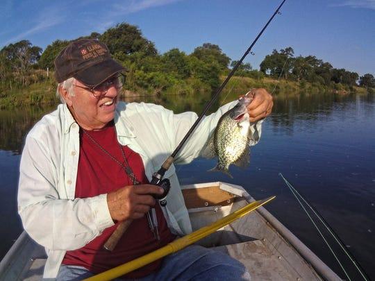The clear Llano River sports abundant populations of bass, crappie, sunfish, gar and catfish.