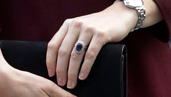 Duchess Kate's engagement ring.