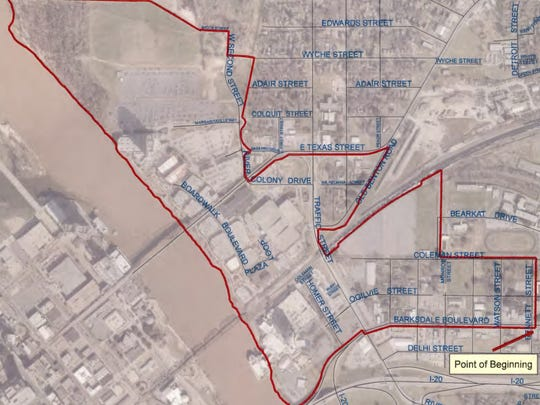 This map, included with Bossier City's proposed amendment