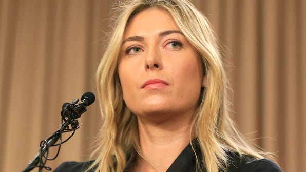 FILE - In this Monday, March 7, 2016, file photo, tennis star Maria Sharapova speakings during a news conference in Los Angeles. Sharapova is being investigated by police in India in a cheating and criminal conspiracy case involving a real estate company who used the tennis star to endorse a luxury housing project that never took off. (AP Photo/Damian Dovarganes, File)