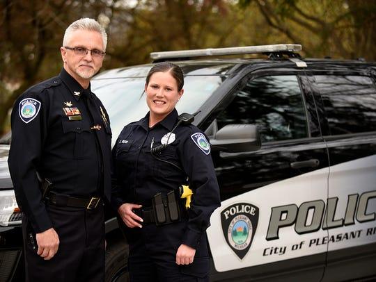 Pleasant Ridge Officer Julie Reid poses for a photo