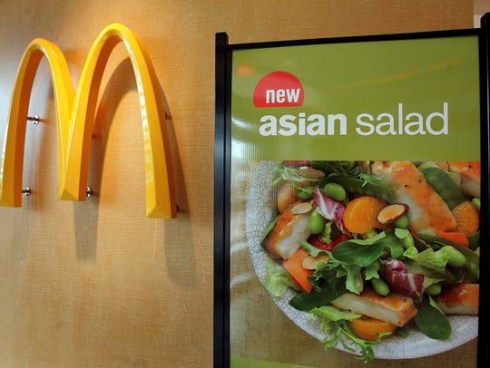 Anuncio de ensalada de McDonald's