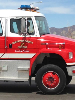 North Lyon County Fire Protection District truck.