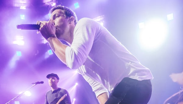 Chris Martin, lead singer of Coldplay, during the band's set at the iTunes Festival at South By Southwest.