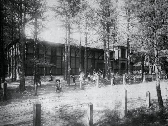 The Mont Alto Park Restaurant, circa 1888, is pictured in this old photograph. Antietam Ramblers will visit the site of Mont Alto Park in its May 9 ramble.