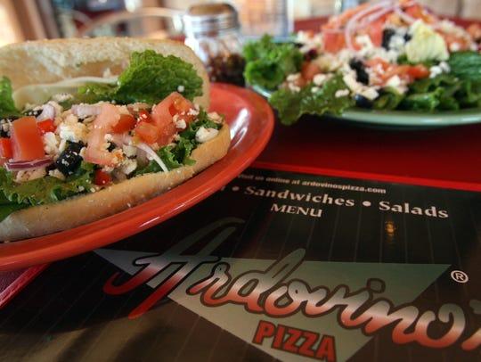 Two items from Ardovino's Pizza, 1879 N. Zaragoza: