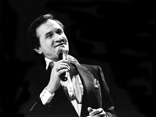 "Country songwriter great Roger Miller sings a medley of songs from his ""Big River,"" the hit musical that won seven Tony Awards, during the nationally televised sixth annual National Songwriter Awards show at the Tennessee Performing Arts Center on Jan. 13, 1986."