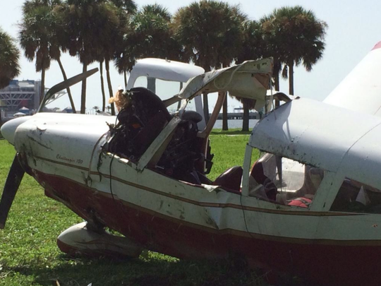 This plane en route from Tallahasssee crashed this morning in St. Petersburg.