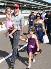 Justin Wilson with his family in 2014.